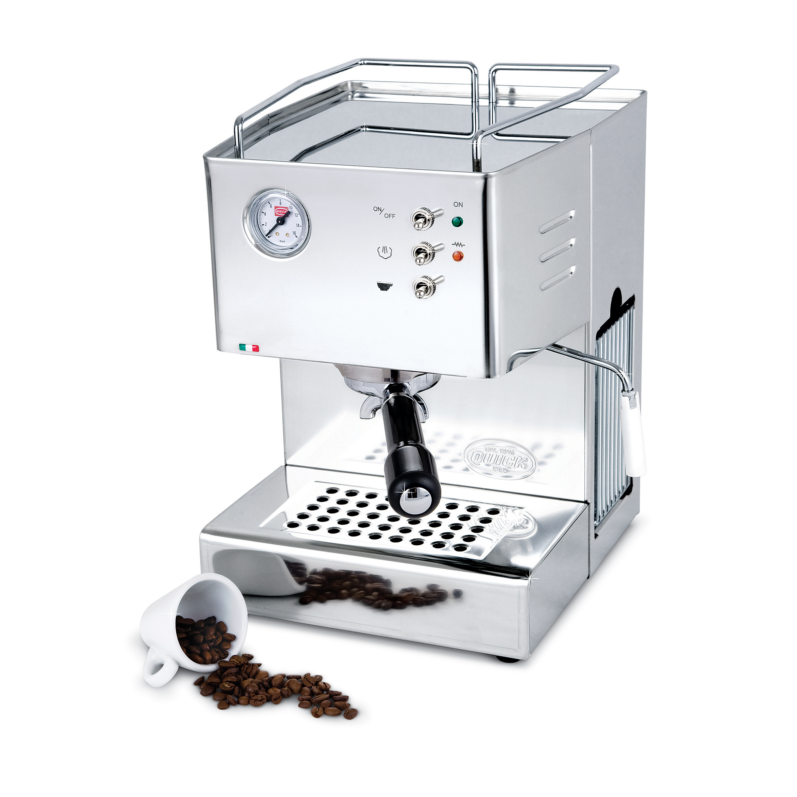 """Quickmill Modell 3000 """"Orione"""" Siebträger Espressomaschine"""